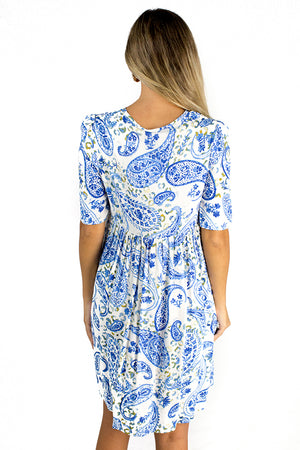 Milan Drifting Dress Blue