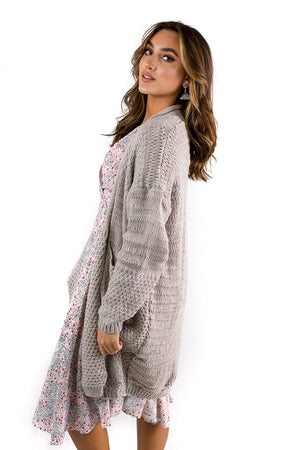 Wellness Club Cardigan Grey