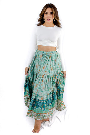 Rise And Shine Maxi Skirt