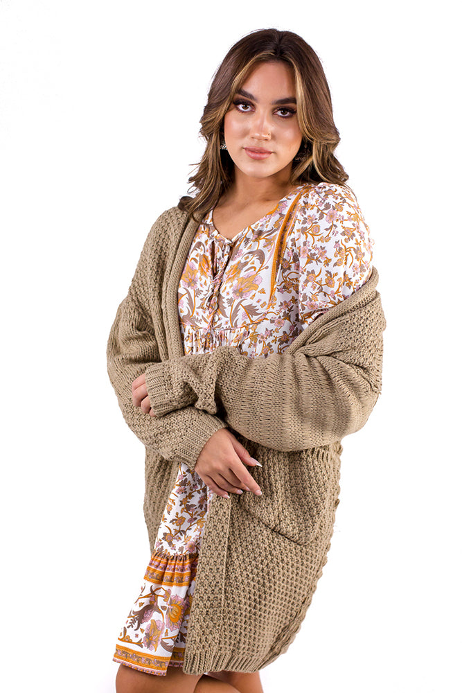 Wellness Club Cardigan Beige