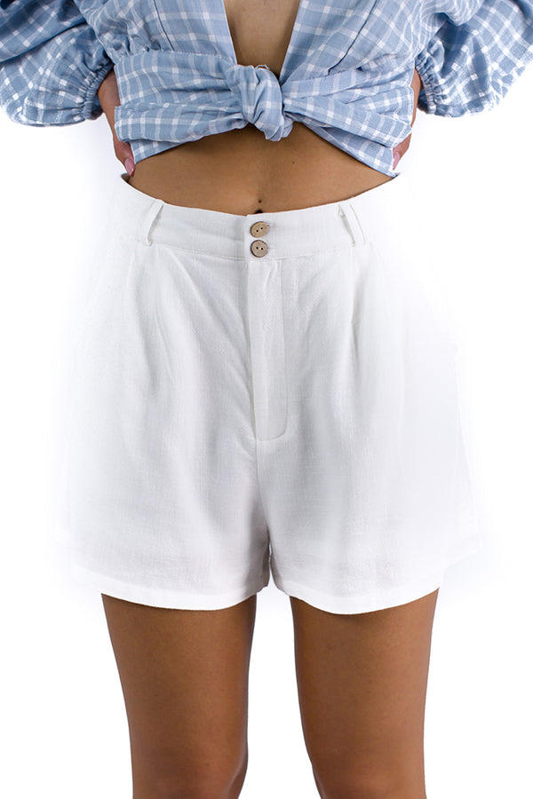 Long Weekend Shorts White