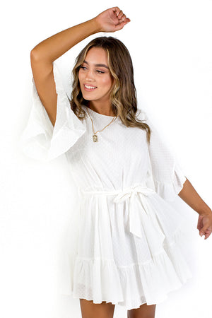 Chasing Butterflies Dress White