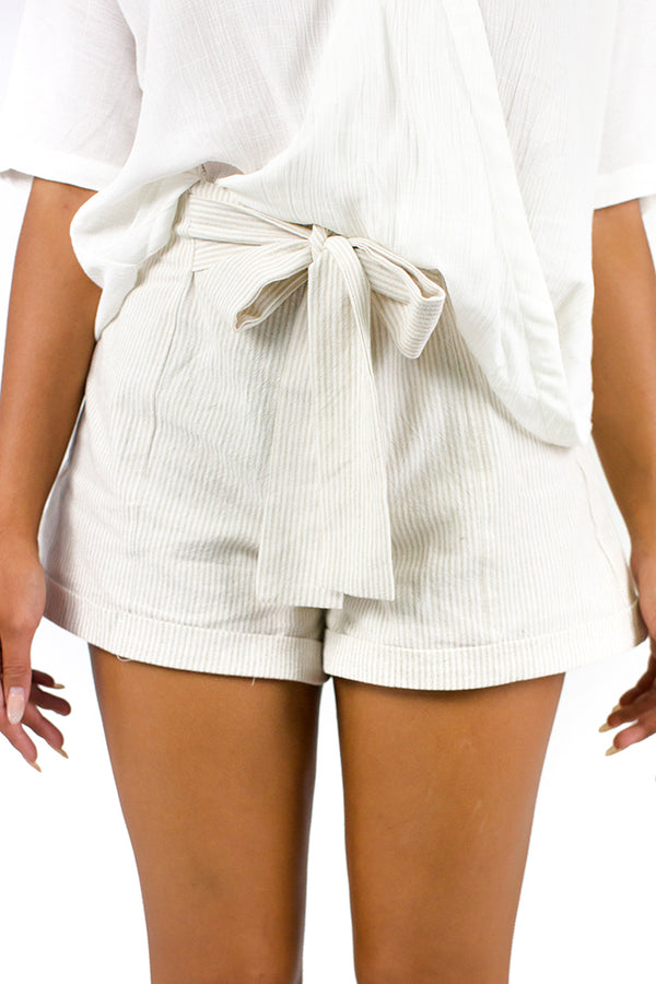 Champagne Breakfast Shorts Beige