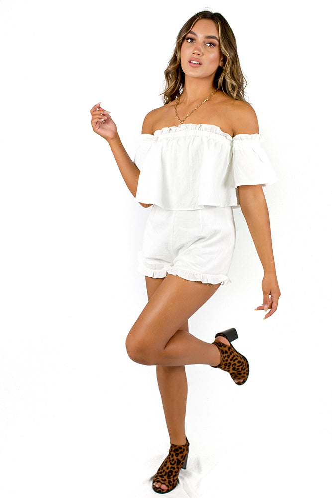 Santorini Summer Playsuit White