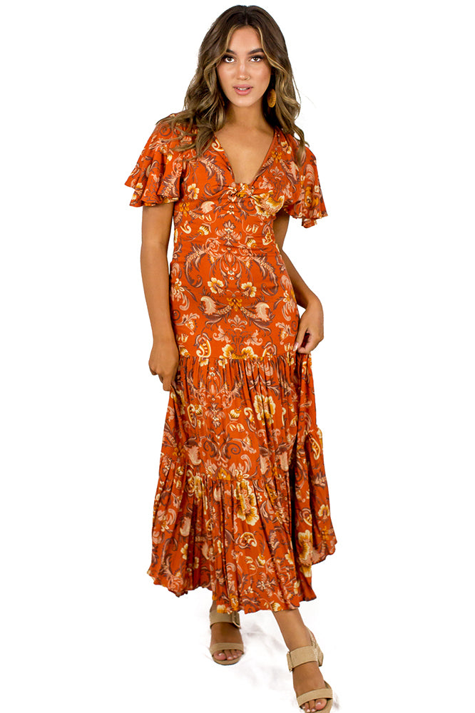 Machu Picchu Maxi Dress Tan