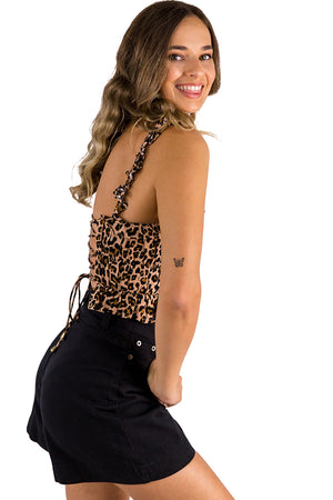 New Girl Top Leopard