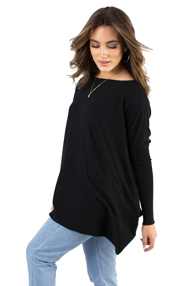 Strawberry Fields Top Black