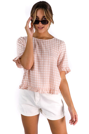 French Girl Top Pink