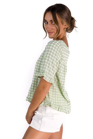 French Girl Top Green