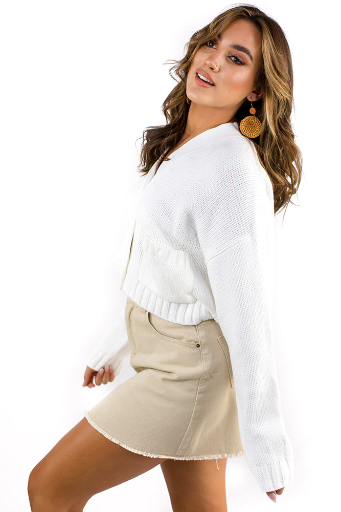 Temptation Cardigan White