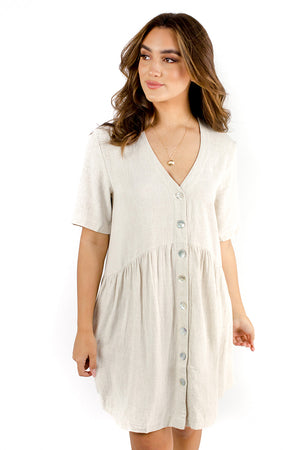 Tallulah Dress Beige