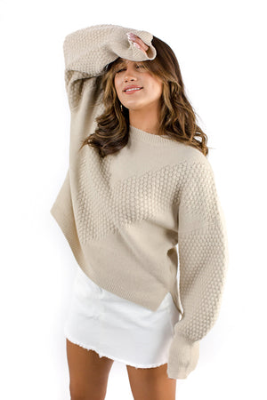 For The Love Jumper Beige
