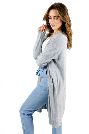 Dream Life Cardigan Light Grey