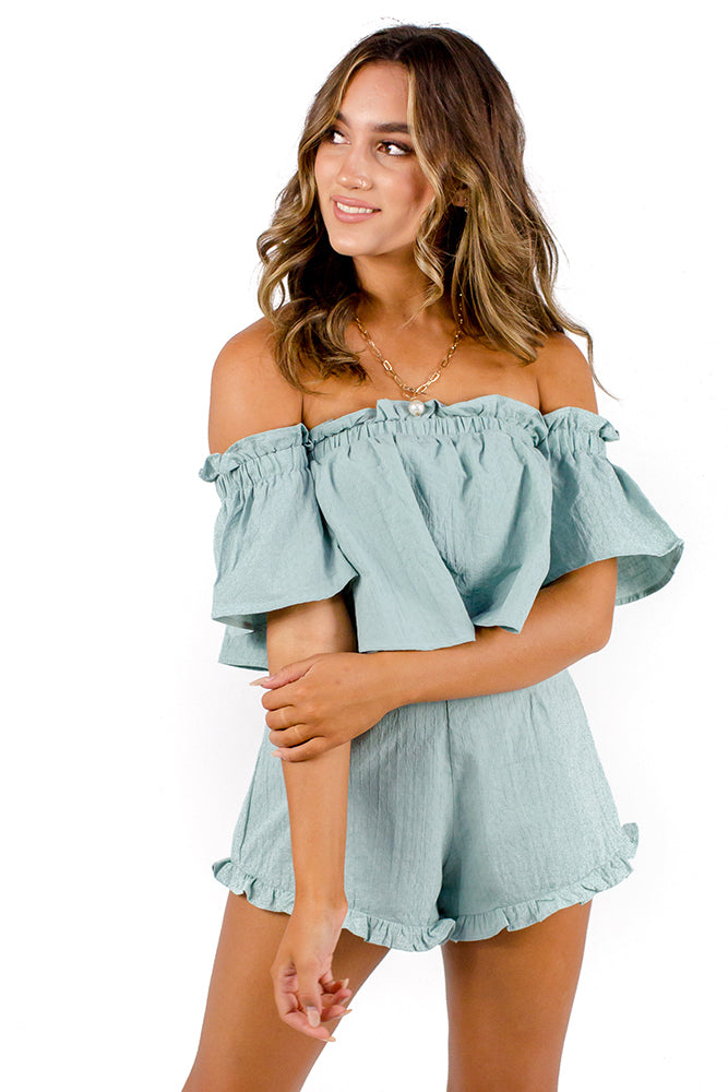 Santorini Summer Playsuit Sage