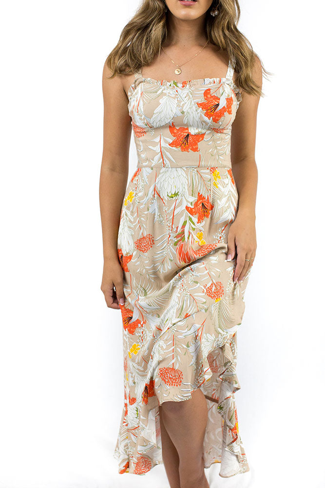 Hampton's Maxi Dress Beige