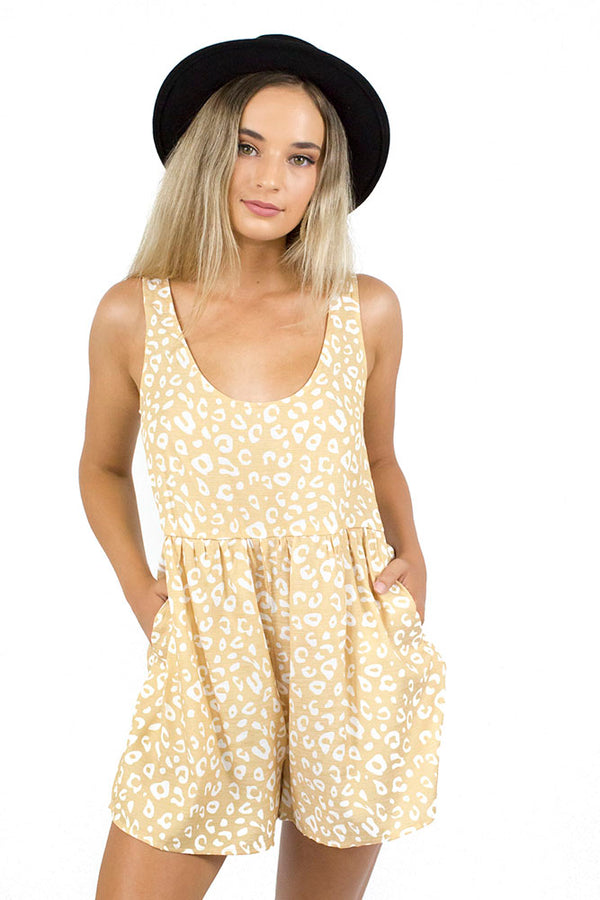 Native Dance Playsuit Yellow