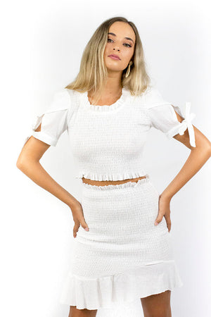 Dominos Skirt White