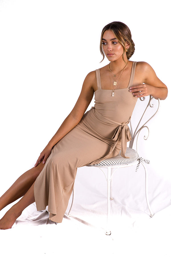 Another Lover Midi Dress Nude