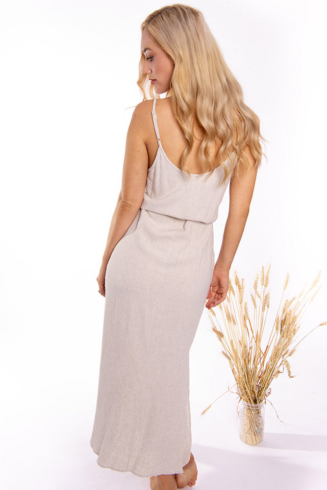 Anthem Maxi Dress Beige