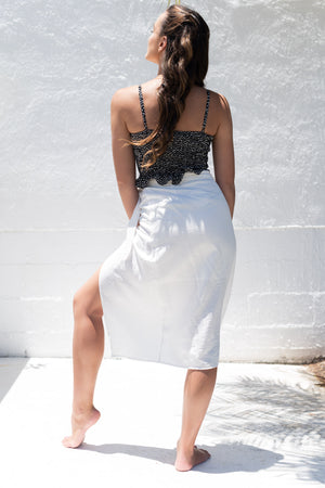 Amalfi Coast Midi Skirt White