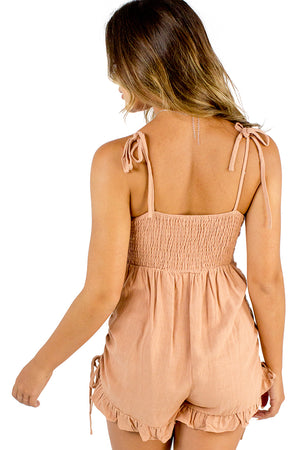 Around You Playsuit Peach