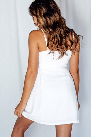 Around The Sun Dress White