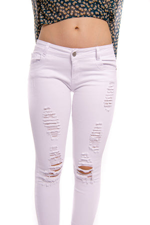 Midnight Stand Jeans White