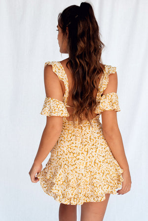 Big Picture Dress Yellow