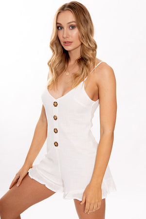 Chance on Me Playsuit White