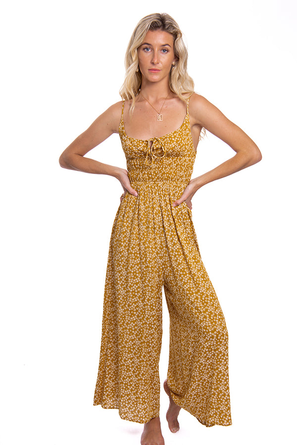 Confessions Jumpsuit Mustard