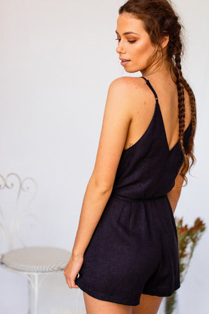 Culture Playsuit Navy