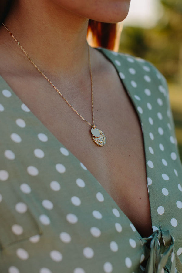 Gold Coin and Disc Short Necklace
