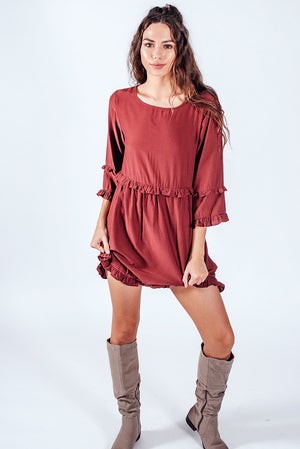 Douleur Luv Dress Burgundy
