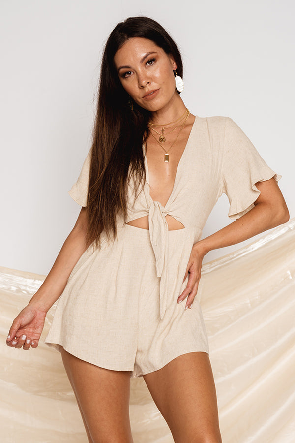 Dreaming Disclosure Playsuit Natural