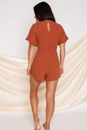 Dreaming Disclosure Playsuit Rust