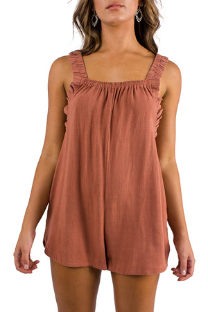 East Coast Playsuit Tan