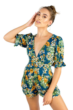 Flourish Playsuit Navy