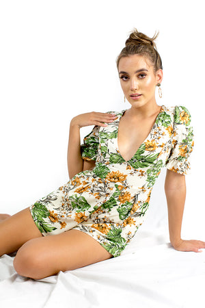 Flourish Playsuit White