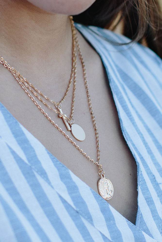 Gold 3 layer Necklace