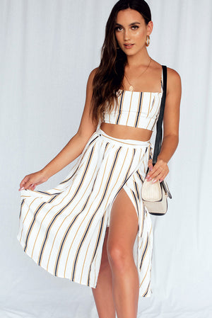 Greek Islands Midi Skirt