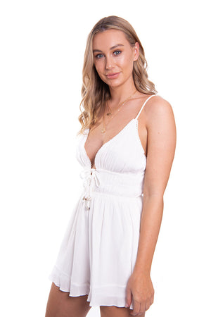 Habit of Hope Playsuit White