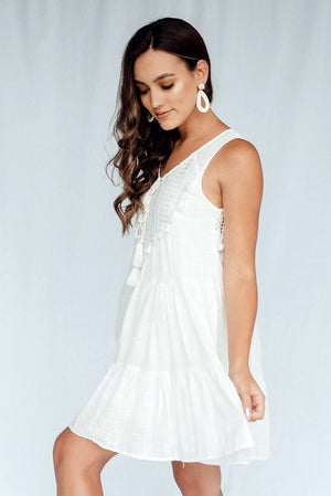 Hearts Horizon Dress White