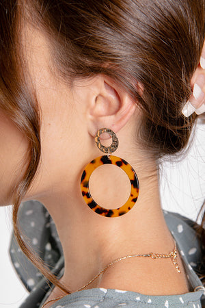 Hope Hoop Stud Earrings