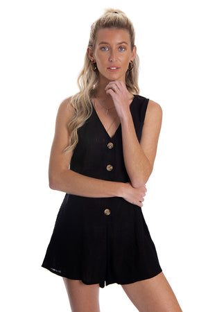 Hopeful Hearts Playsuit Black