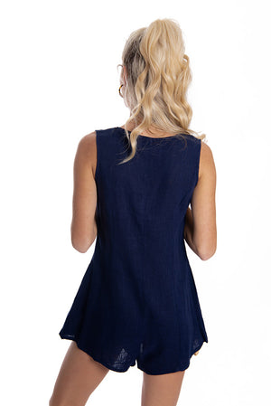 Hopeful Hearts Playsuit Navy