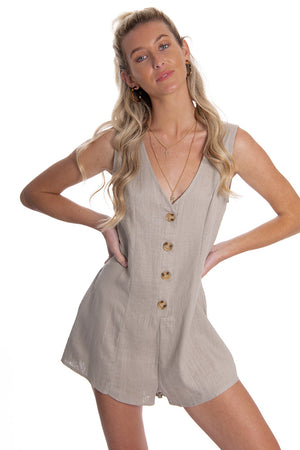Hopeful Hearts Playsuit Stone