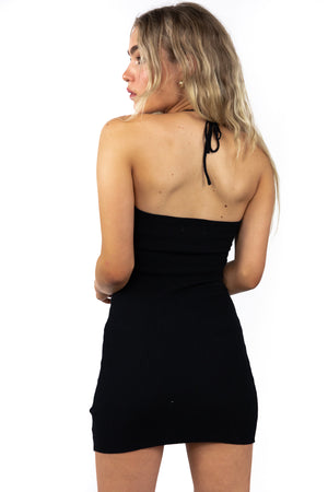Black Kissing Strangers Dress