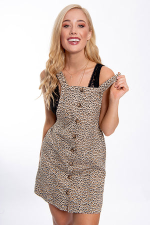 Last Rising Dress Beige Leopard