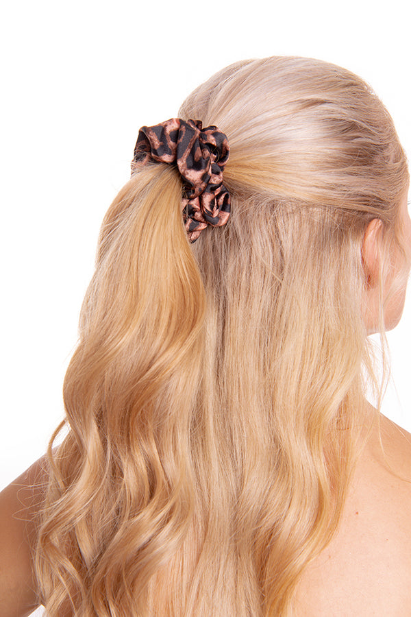 Tan Leopard Scrunchie