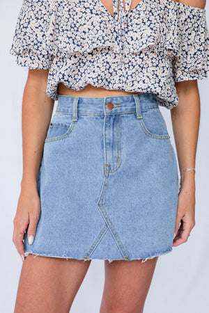 Little Savage Skirt Denim